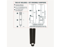 To the ceiling Double Wall Black Pipe Kit