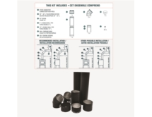 To the Wall Double Wall Black Pipe Kit